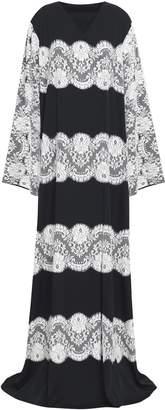 Dolce & Gabbana Lace-paneled Silk-blend Gown
