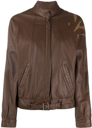 A.N.G.E.L.O. Vintage Cult 1980s Contrasting Panelling Leather Jacket