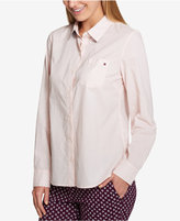 Tommy Hilfiger Core Cotton Printed Roll-Tab Shirt, Created for Macy's