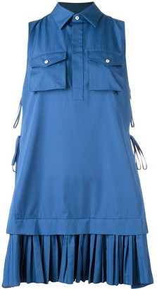 DSQUARED2 pleated shirt mini dress