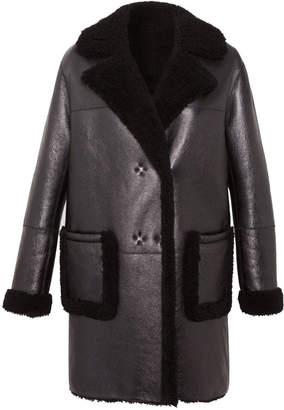Gerard Darel Reversible Sheepskin And Shearling Andree Coat