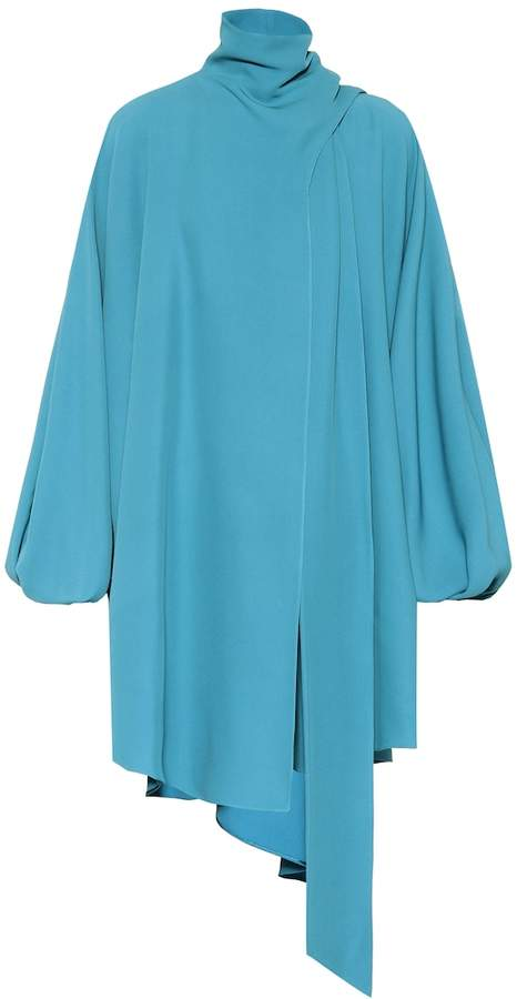 Valentino Asymmetric silk cady top