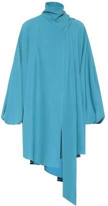 Valentino Asymmetric silk cady top