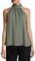 Haute Hippie Halter-Neck Side-Tie Morrison Blouse