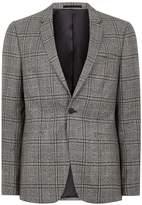Topman Mid-grey Check Skinny Suit Jacket