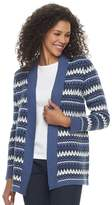 Croft & Barrow Petite Fairisle Open Front Cardigan