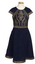 Tadashi Shoji Toddler Girl's Brocade Embroidery Party Dress