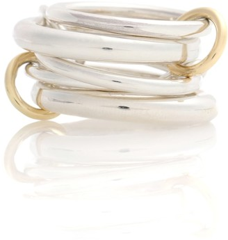Spinelli Kilcollin Vela sterling silver and 18kt gold linked rings