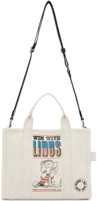 Marc Jacobs White Peanuts Edition Canvas The Small Traveller Tote
