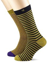 Scotch & Soda Men's Colourful Calf Socks,pack of 2