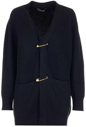 Versace Safety-Pin Knit Cardigan