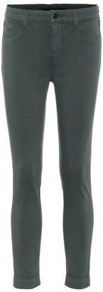 J Brand Anja cropped mid-rise skinny jeans