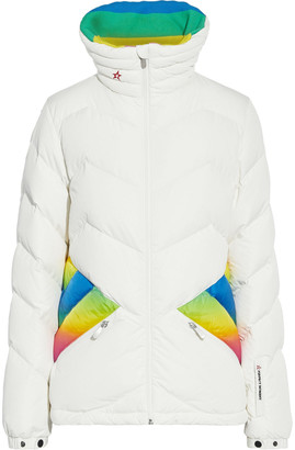 Perfect Moment Apres Duvet Degrade-trimmed Quilted Down Ski Jacket