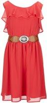 I.N. Girl Big Girls 7-16 Belted Sleeveless Dress