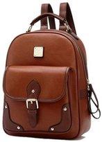 Urparcel New Retro Vintage 13 Inch/14 Inch Noteboook Bag Women's Backpack School Bag Fashion Travel School PU Leather Handbag