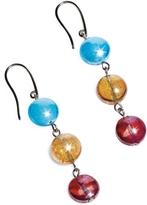 Antica Murrina Veneziana Redentore 1 - Multicolor Murano Glass & Silver Leaf Dangling Earrings