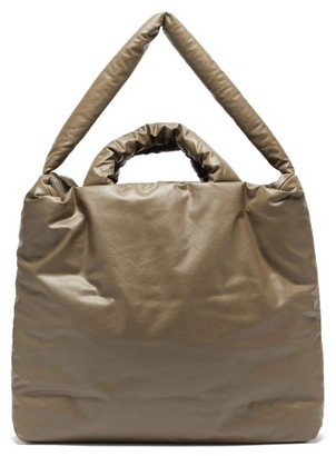 Kassl Editions Oil Large Padded Cotton-blend Canvas Tote Bag - Khaki