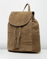 Mng Lapel Leather Backpack