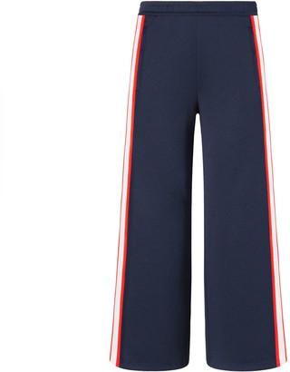 Tory Burch Cropped Wide-Leg Track Pants