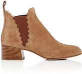 Chloé Women's Lauren Suede Ankle Boots-Brown