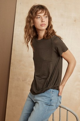 Velvet by Graham & Spencer Alec Linen Knit Knot Front Tee