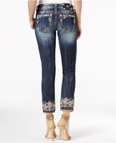 Miss Me Dark Wash Embroidered Cropped Jeans