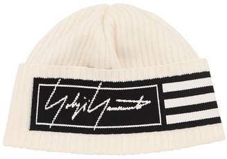 Y-3 Y 3 3 Stripes Cotton Blend Knit Beanie