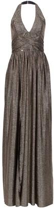 Nissa Maxi Elegant Dress With Metallic Effect