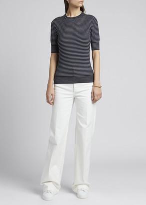 Loro Piana Fontvieille Striped Cashmere-Blend Sweater