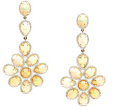 Tresor Collection - 18K Yellow Gold Earring With Ethiopian Opal & Diamond