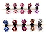 Cuhair(tm) 10pcs Crystal Rhinestone Assorted Bangs Mini Hair Claw Clip Hair Pin Flower Accessories for Girl Women Baby Mix Colored by cuhair