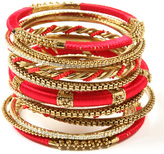 Amrita Singh Gold & Red Rupal Bangle Set