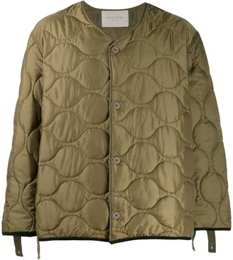 Buscemi Quilted Graphic Print Jacket