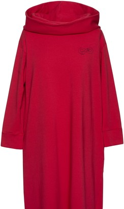 Be With Soft Cotton Hoodie Dress For Hugs - Red