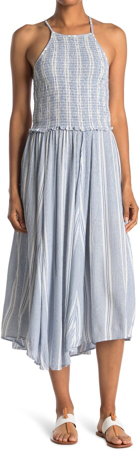 Thumbnail for your product : Angie Flowy Smocked Bodice Maxi Dress
