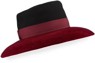 Gigi Burris Millinery Christel Wool Felt & Velvet Wide-Brim Hat