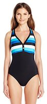 Tommy Hilfiger Women's Racer-Back Maillot One Piece Swimsuit