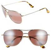 Maui Jim 'Cliff House - PolarizedPlus ® ' 59mm Metal Aviator Sunglasses