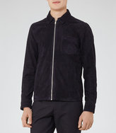 Reiss Whisper Suede Collared Jacket