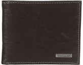 Steve Madden Buff Crunch Leather Passcase Wallet