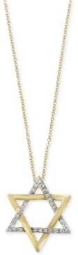 Effy D'Oro by Diamond Star of David Pendant Necklace (1/10 ct. t.w.) in 14k Gold