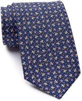 Tailorbyrd Fish & Star Print Silk Tie