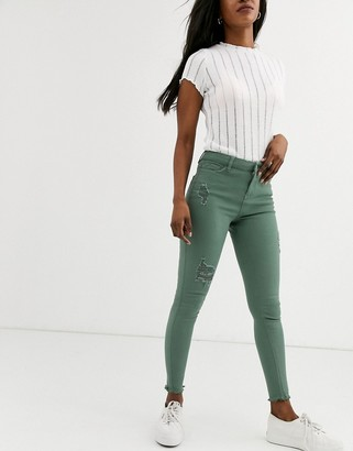 Urban Bliss alila skinny jeans with rips-Green