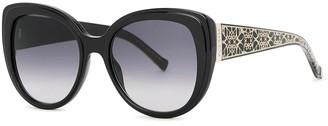 Elie Saab Black cat-eye sunglasses
