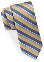 Black Brown 1826 Narrow Striped Tie