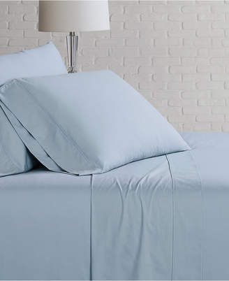 Brooklyn Loom Solid Cotton Percale Full Sheet Set Bedding