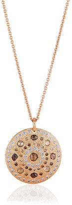 De Beers 18kt rose gold Talisman Large Medal diamond pendant necklace