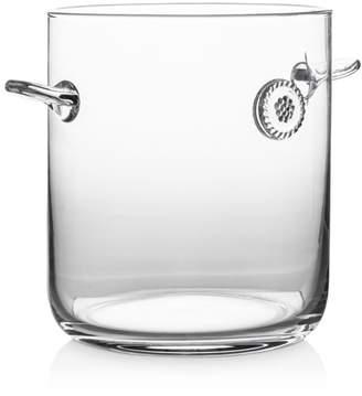 Juliska Berry & Thread Glass Ice Bucket with Tongs
