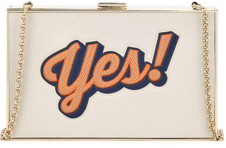 Anya Hindmarch Imperial Yes No Clutch Bag, White