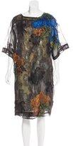 Dries Van Noten Dominic Metallic Jacquard Dress